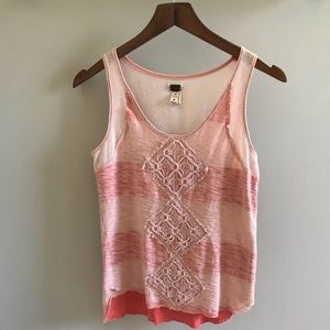 Free people embroidered tank🌷